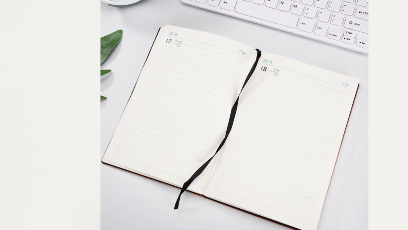 2019 Wholesale custom personalized custom PU leather diary school notebook