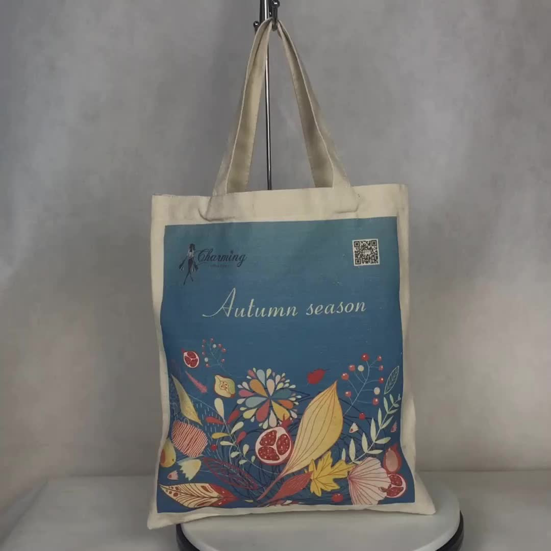 100% cotton drawstring shopping bag