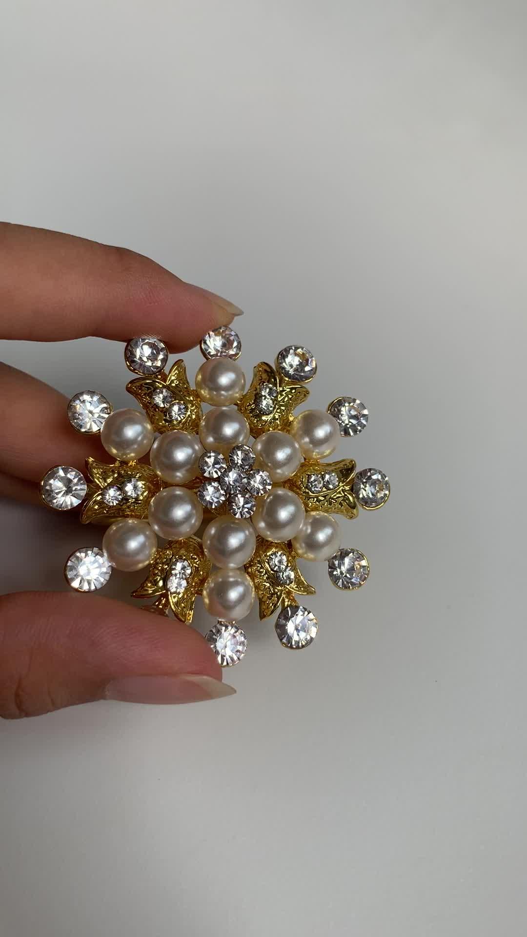 Металлический золотой цвет жемчуг Снежинка Салфетка кольцо для рождественского праздника