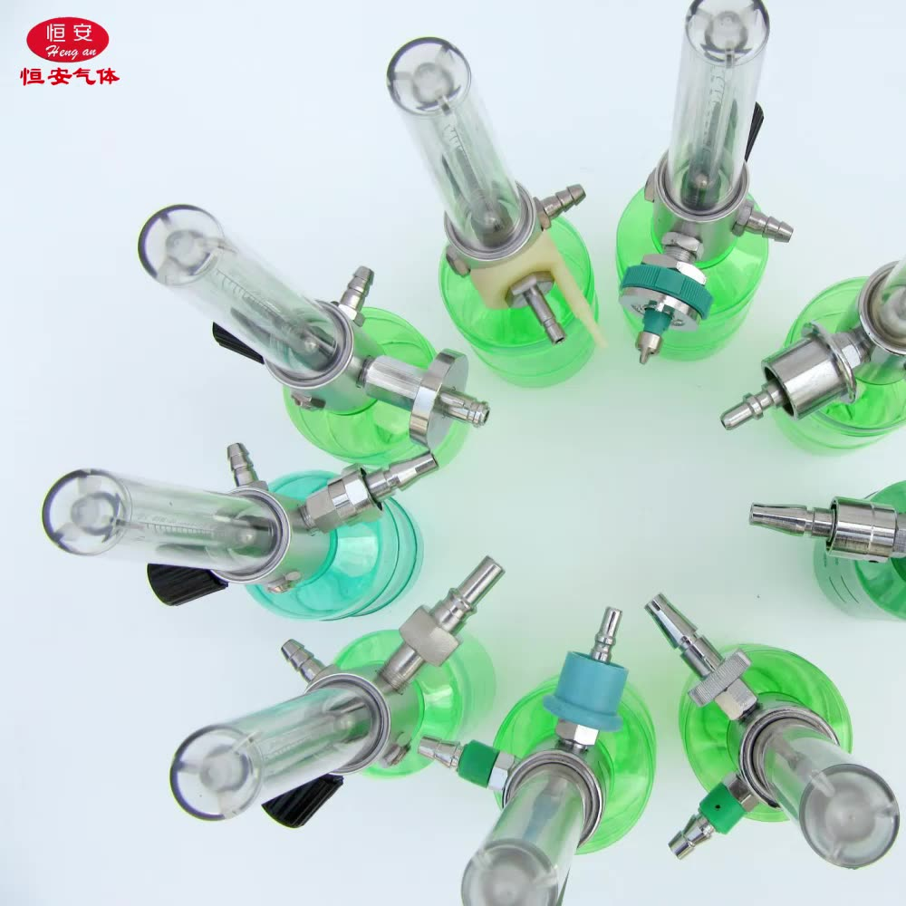 Wholesale Medical CGA540 Oxygen Regulator Oxygen Flowmeter With Humidifier 150Bar Oxygen Sizes