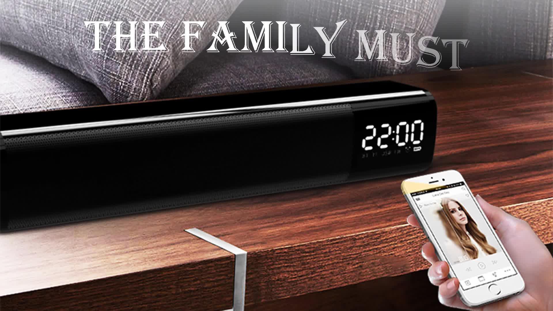 Novo Tf inserção 3D stereo surround subwoofer casa KTV retangular 5.0 versão karaoke falantes sem fio
