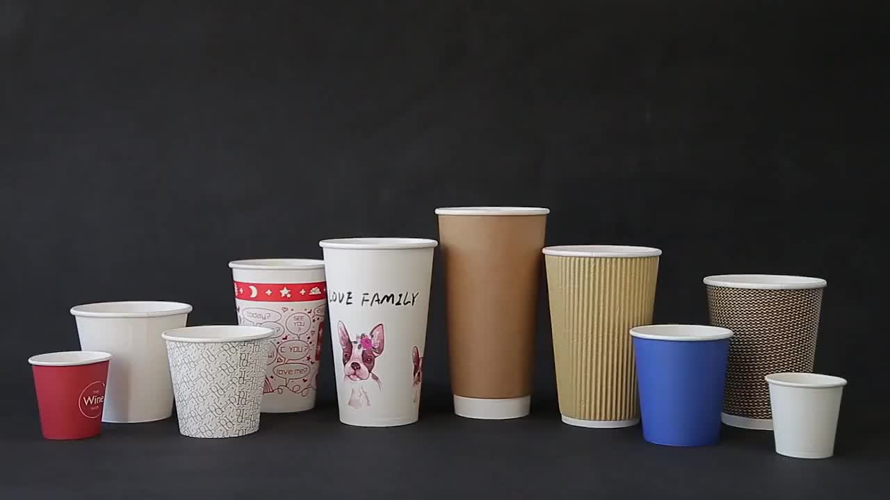 High Quality  Bagasse Paper cups Manufacturers For Tea, Juice , Milk and Coffee