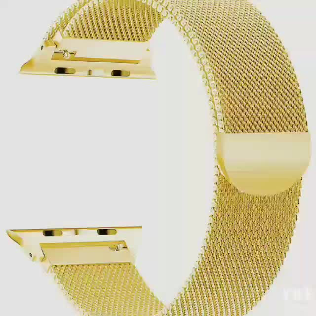 Amazon Hottest Stainless steel gold Milanese Loop strap for apple watch 4