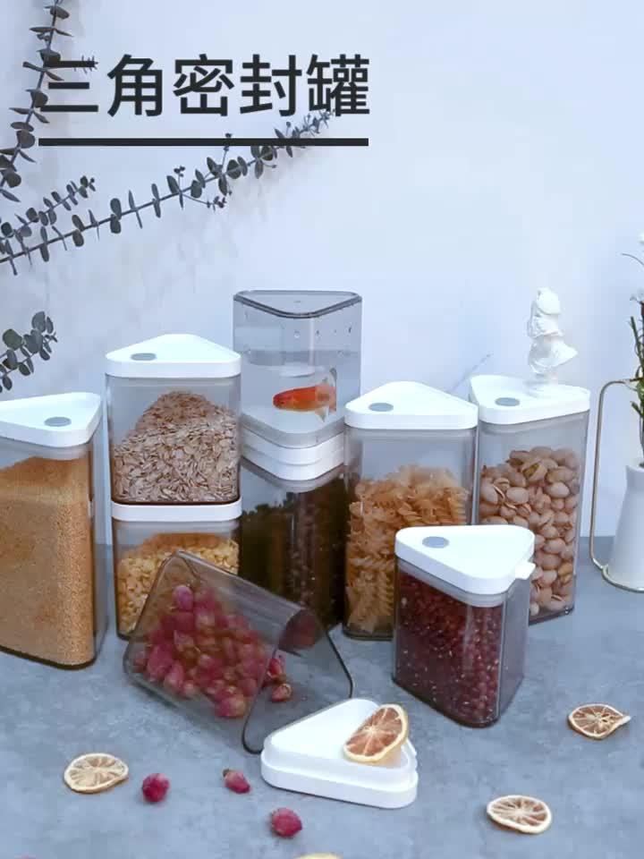 Pronto per la spedizione Rettangolo Riutilizzabile Food Grade Airtight Barattolo Contenitore di Stoccaggio di Plastica Per Alimenti
