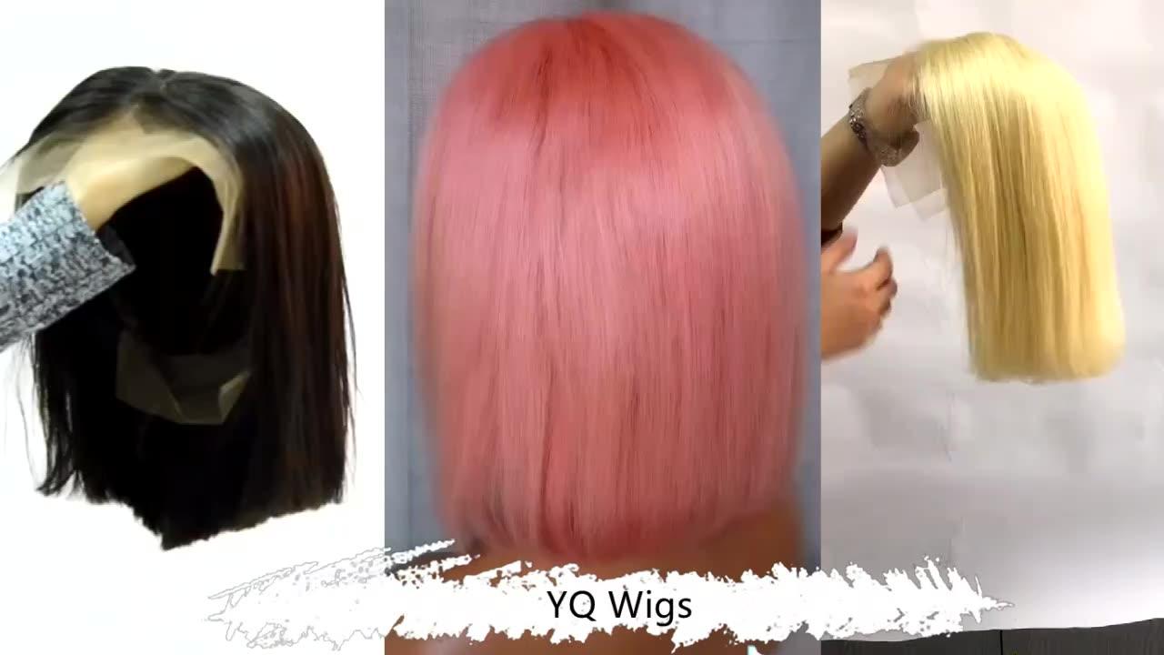 Tóc Người Bán Sỉ Bob Pink Human Hair Ombre Wigs