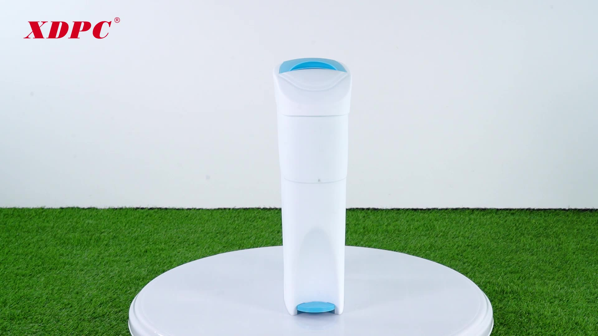 XDPC Wholesale plastic sanitary chatroom toilet waste bin pedal step trash can dustbin for ladies