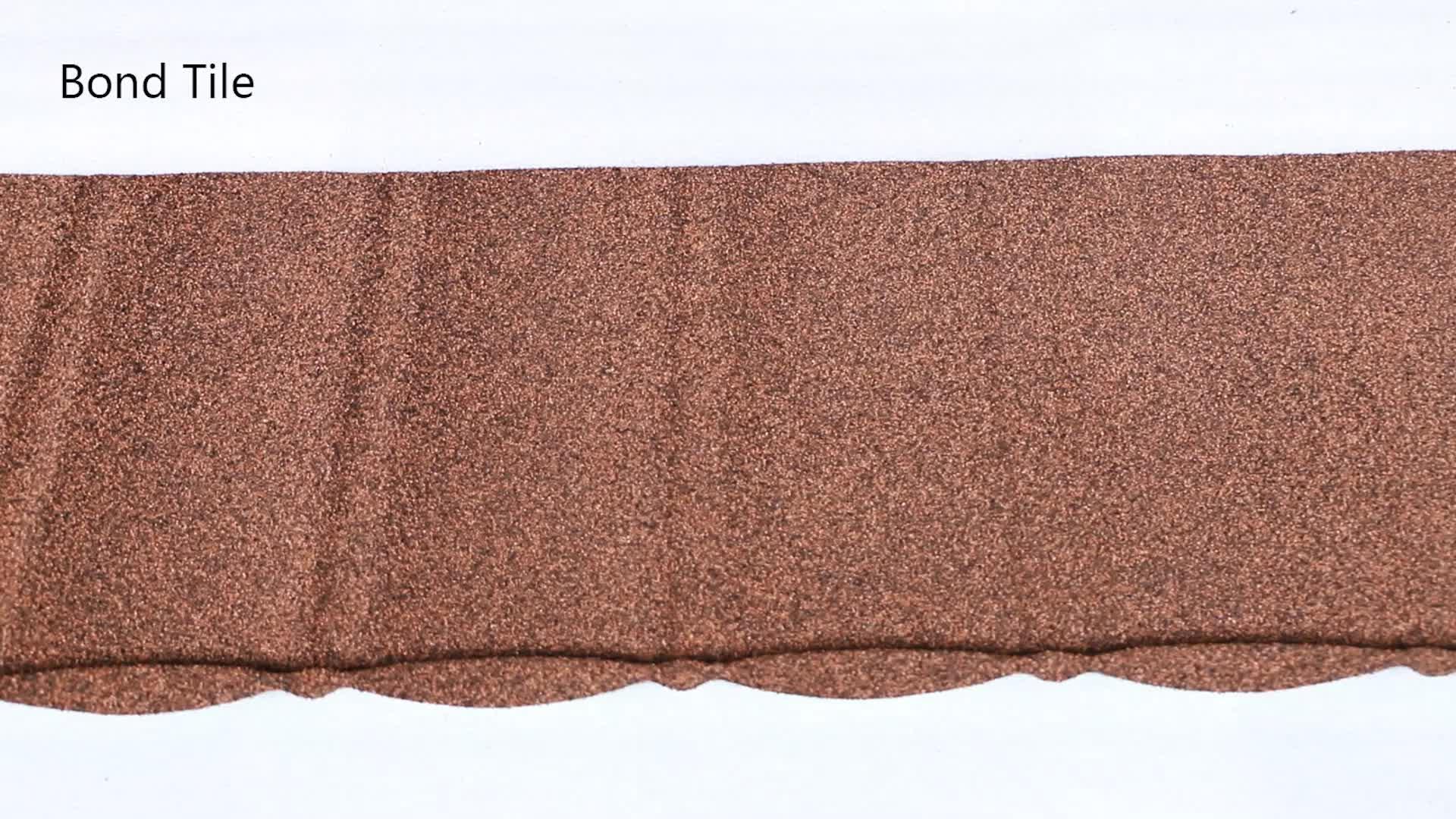 Uzun ömürlü taş kaplamalı çatı kiremiti fabrika en iyi fiyat ile
