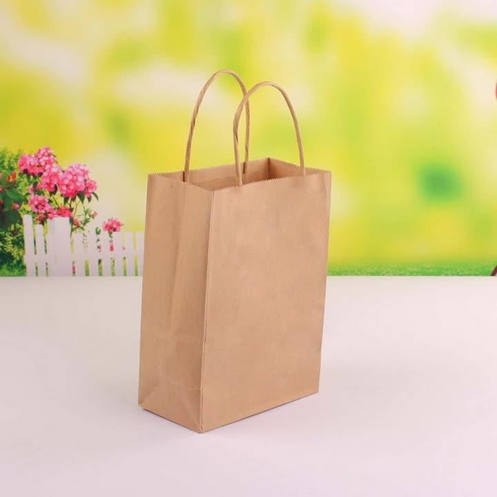 Eco Saco De Compras De Papel Kraft Simples Saco do presente saco de papel com alça de Papel Personalizável (CZ-877)