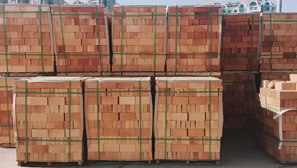 Low porosity refractory fire clay brick for cement kiln