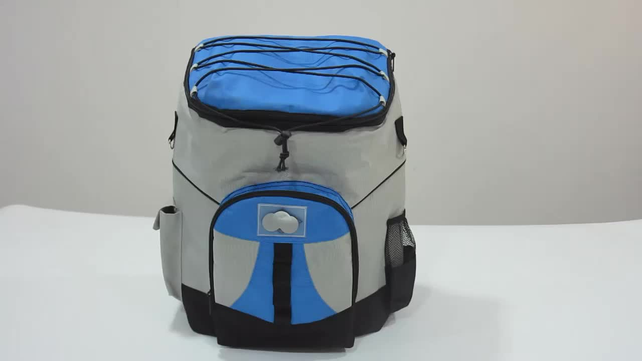 Outdoor travel lunch picnic bag hiking insulated cooler backpack