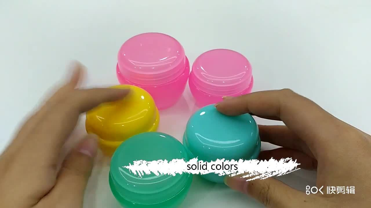 empty cream cosmetic containers mushroom shape PP plastic cosmetic jar 5g 10g 20g 30g 50g