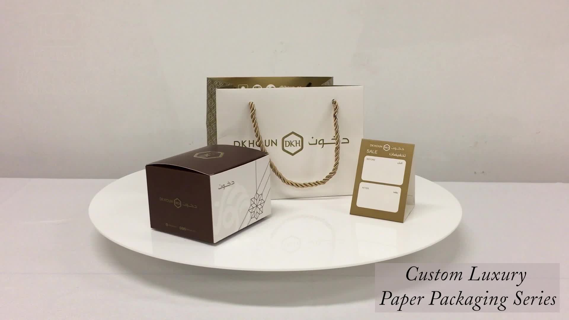Luxury Custom Brand Logo Printed Small Jewellery Packaging Gift Boutique Carry Paper Bag For Sale