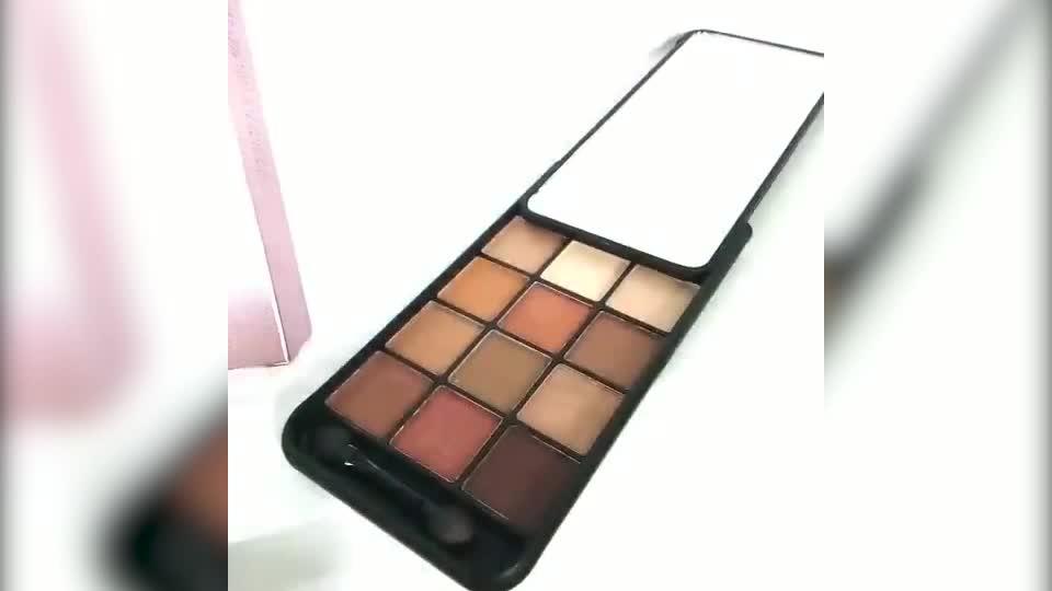 अमेज़न निजी लेबल निविड़ अंधकार 12 रंग फोन के मामले में आंखों के छायाएं पैलेट श्रृंगार सेट मामले