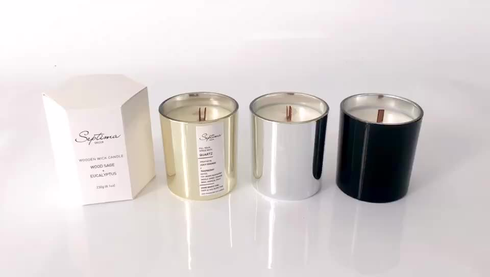 Mescente private label packagong wicks and stones infinity candle in jars