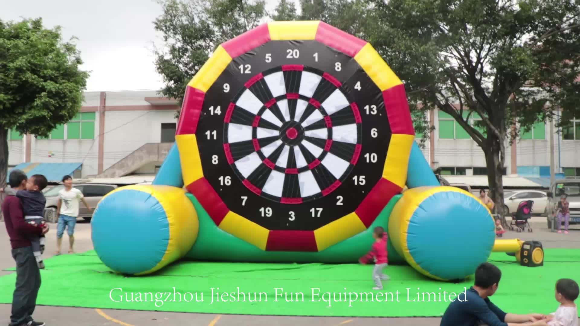Custom 5m High Factory Sale Single Face Inflatable Kick Darts Soccer Ball Dart Board Archery Sticker Shooting Game