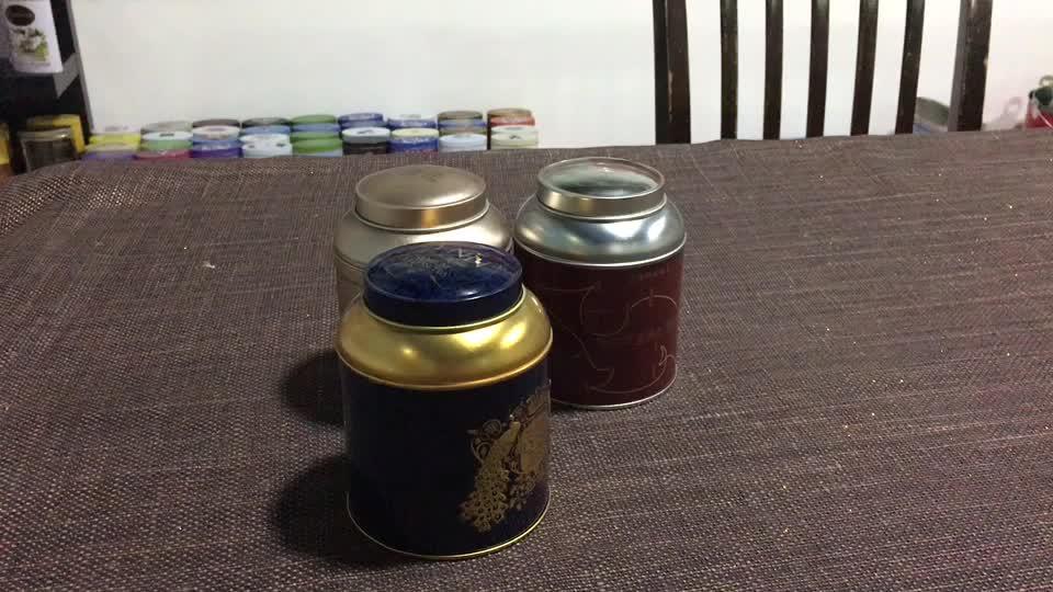Design personalizado De Café Selado Latas de Lata de Embalagem de Chá Vazia de Metal Por Atacado