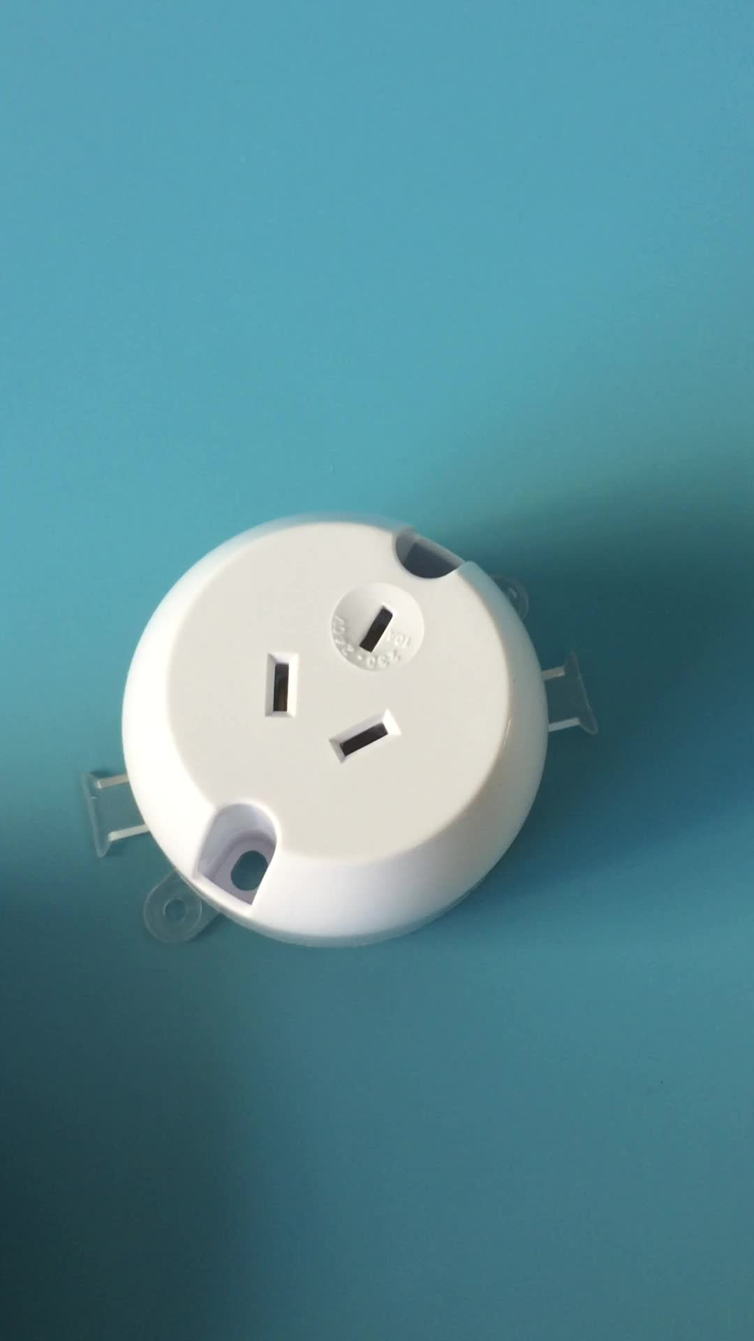 DTPB01 Durable White Single Socket Outlet LED COMPANY NEED