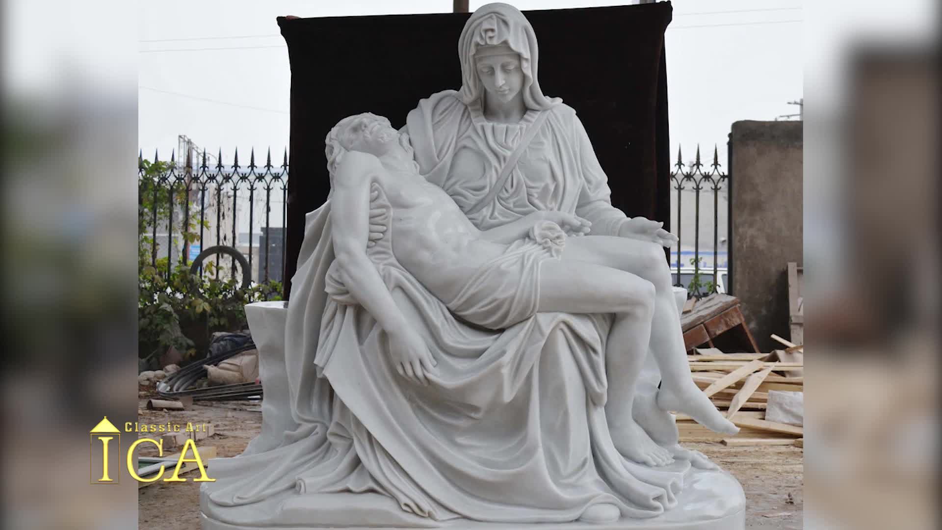 Christ the Redeemer Life Size Stone Statue Marble Jesus Hand Carved