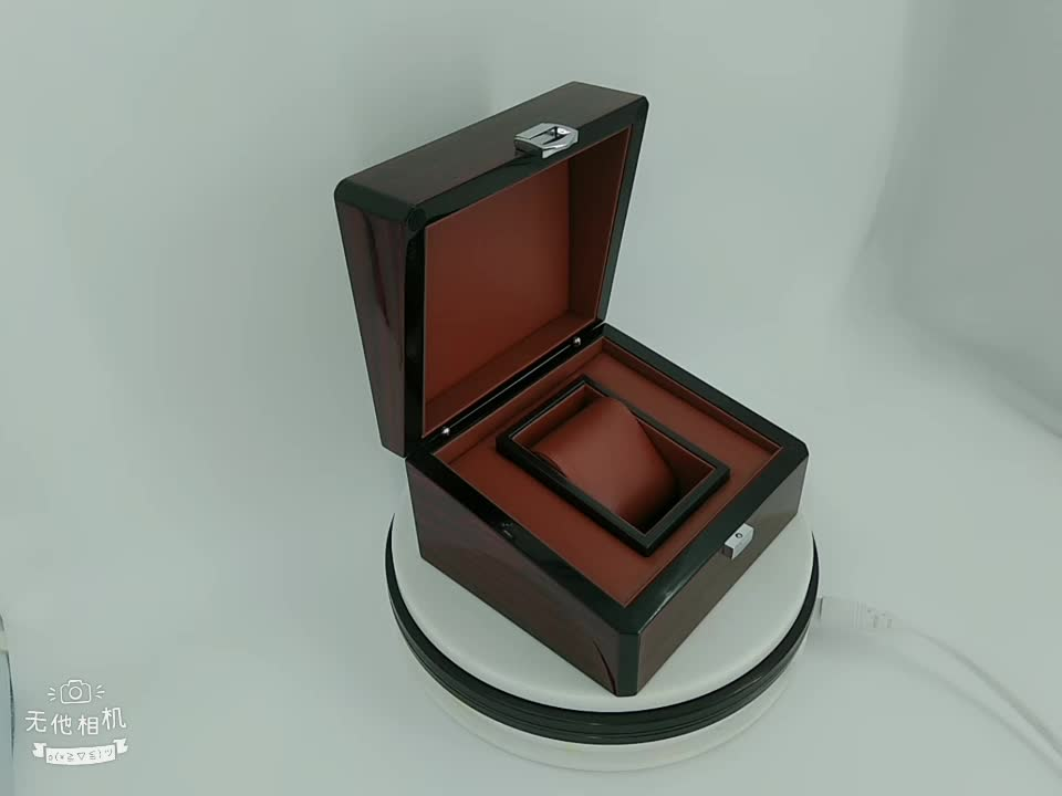 Custom logo available storage wooden watch packaging box