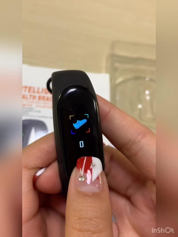 Ücretsiz Kargo Hindistan M3 Akıllı Bant nabız monitörü IP67 Su Geçirmez Spor Sağlıklı Izci akıllı bilezik
