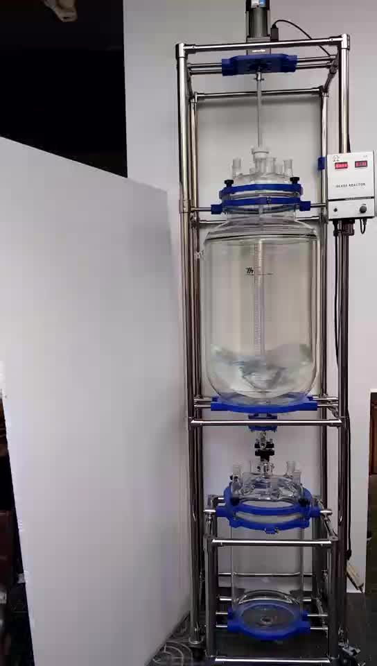 100L Explosion-proof Motor, Jacketed Glass Reactor with Condenser Effison