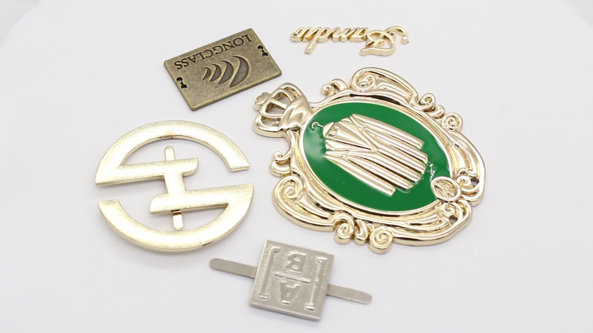 Custom metal clothing labels metal clothing logos wholesale