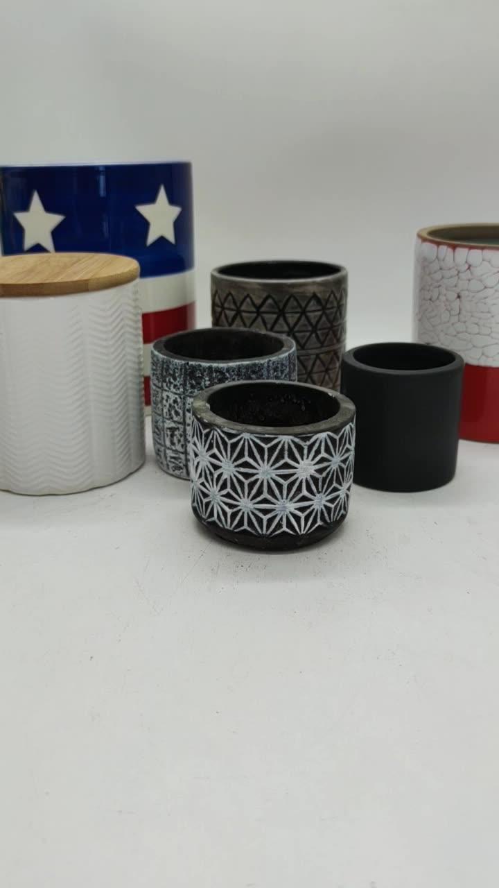 Ceramic candle holder with customized design ceramic candlestick