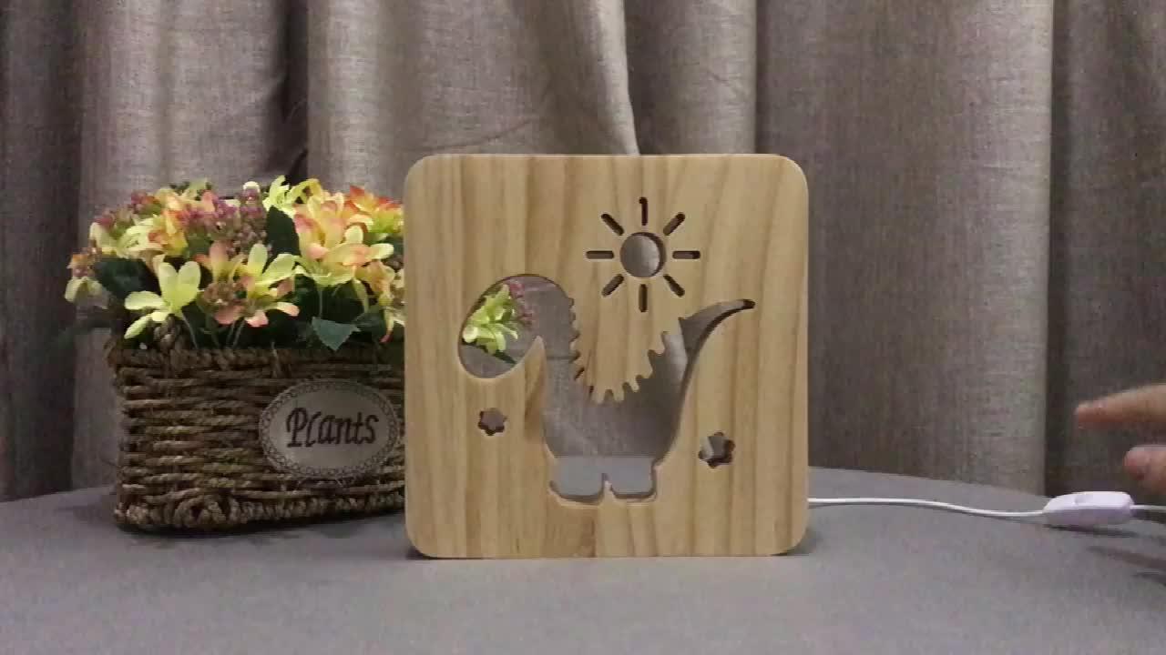 Il re leone di animale di disegno Scava fuori in legno lampada di Notte nuovo prodotto innovativo idee idea prodotto Accetta su misura