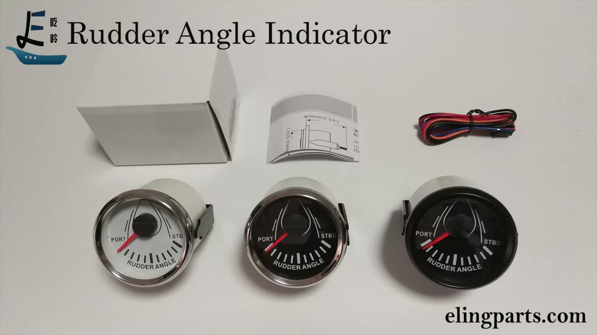 52mm Marine Rudder Angle Gauge 0-190ohm Rudder Angle Indicator 12V/24V Boat Vessel Rudder Angle Meter