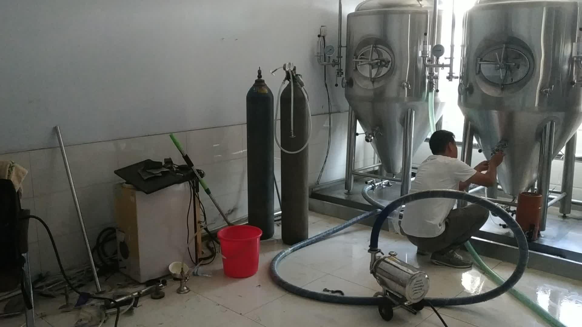 Mikro mini bira demlemek su ısıtıcısı concical fermenter ekipmanları