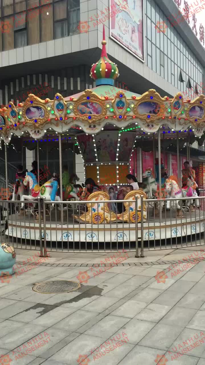 Mini carnival children kids china cheap indoor carousel amusement park funfair rides