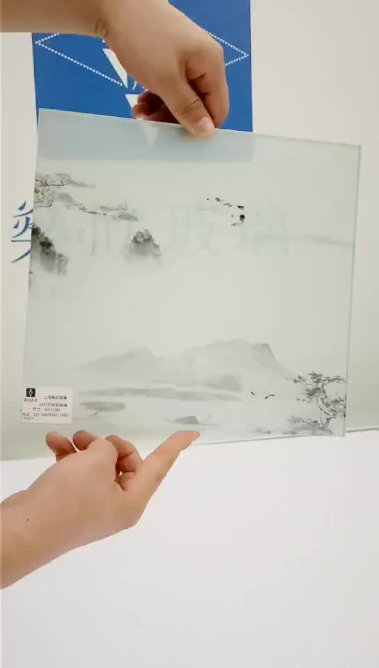High quality uv printing  tempered picture glass uv art
