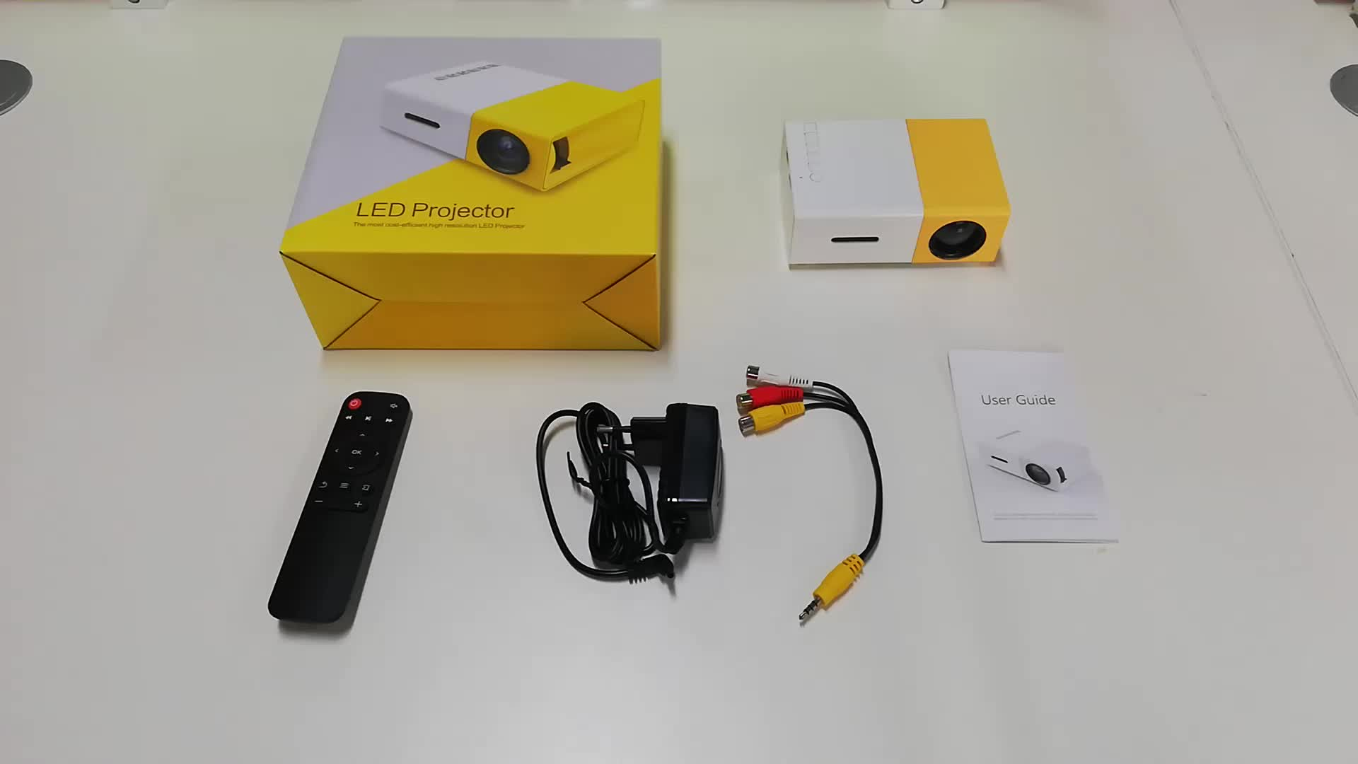 Portable Android Home theater Mini pocket Projector YG300 Yellow Black color