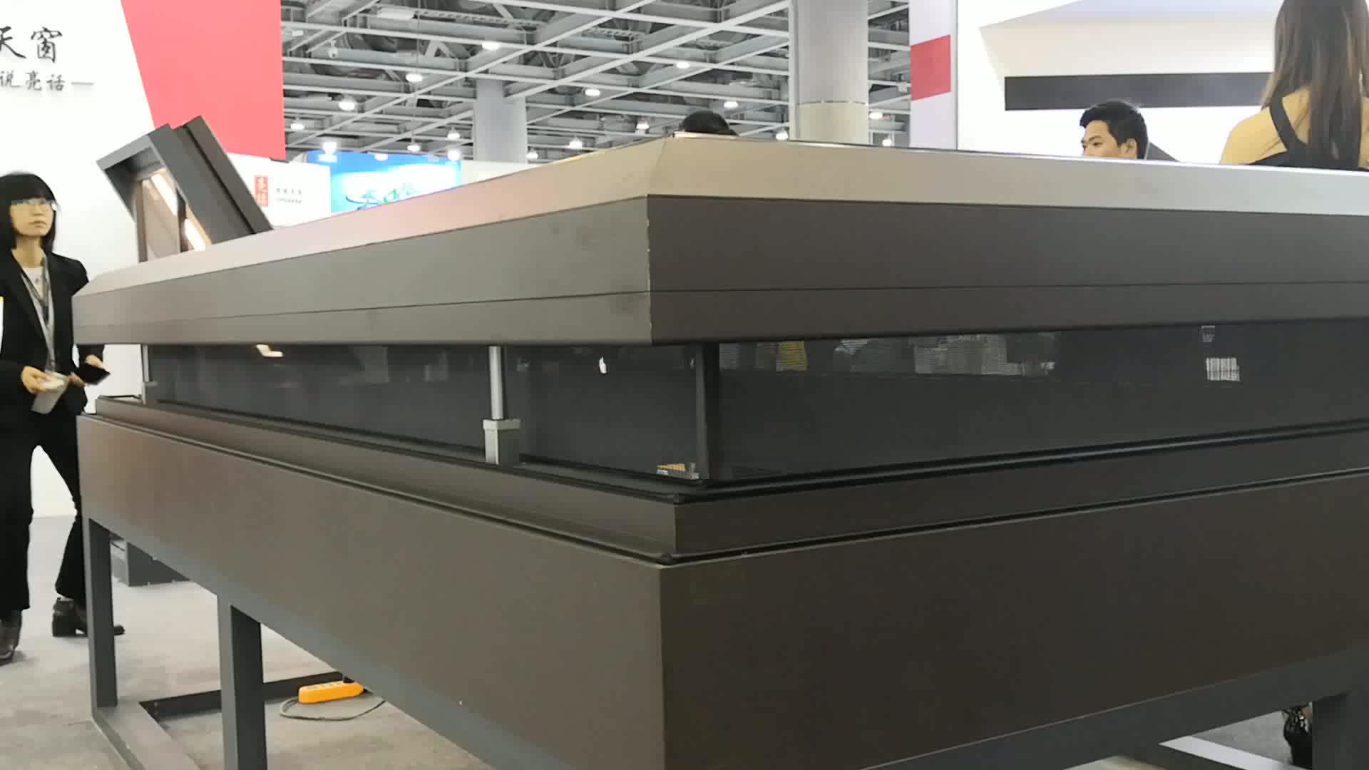 2019 New Design Aluminum Profile Tempered Glass Roof