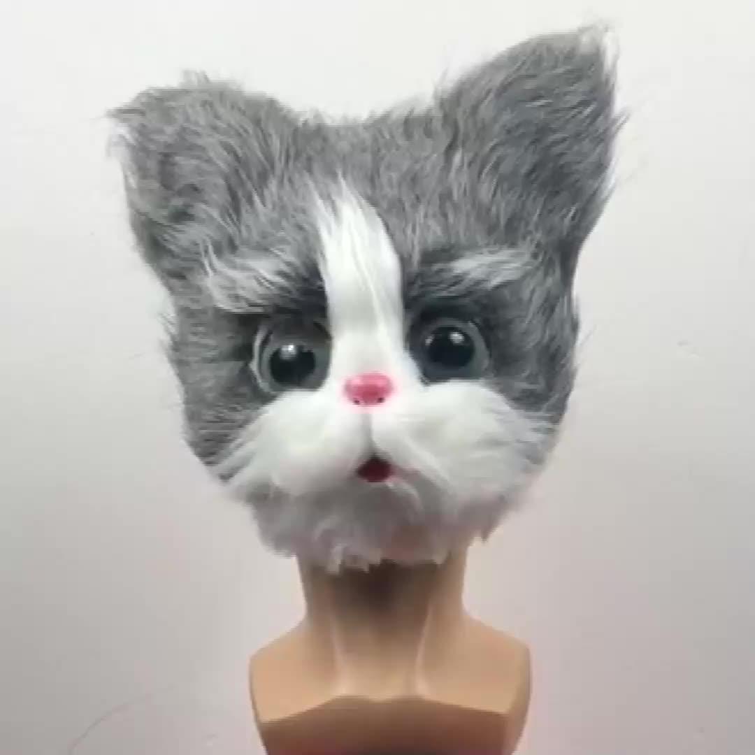 Unhappyหน้ากากแมว,Black Cat Headหน้ากาก,ฮาโลวีนNovelty Costume Partyอุปกรณ์เสริม