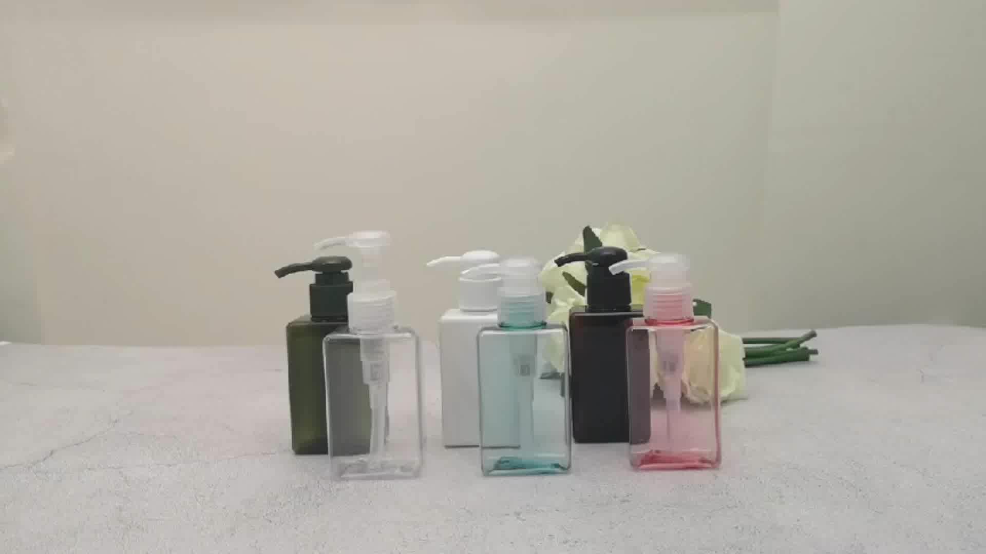 인기있는 Design 의 스퀘어 (times square) 로션 펌프 병 PET 샴푸 병 펌프 Spray