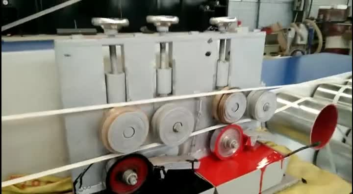 two color printing high quality off line pp strap printing machine