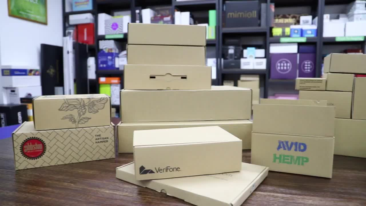 Recycled Custom Printed Brown Corrugated Cardboard Packing Mailing Boxes