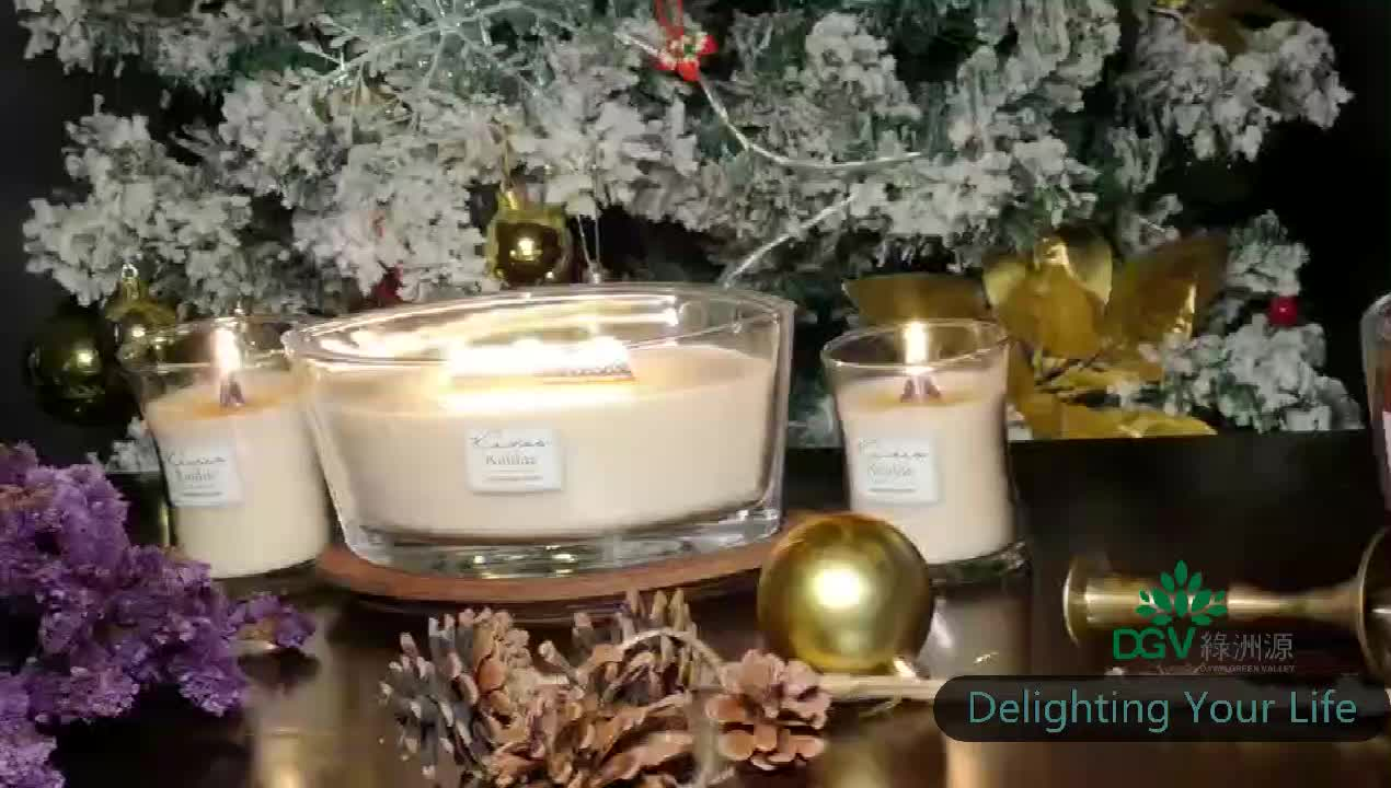 Plus Wooden Wick Fireside Scented Candle