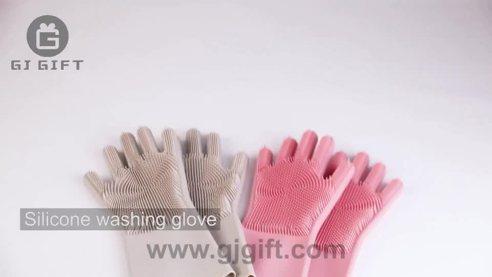 Washing  Dish Rubber Brush Bbq Cleaning Scrubber  Kitchen  Silicone Dishwashing Glove