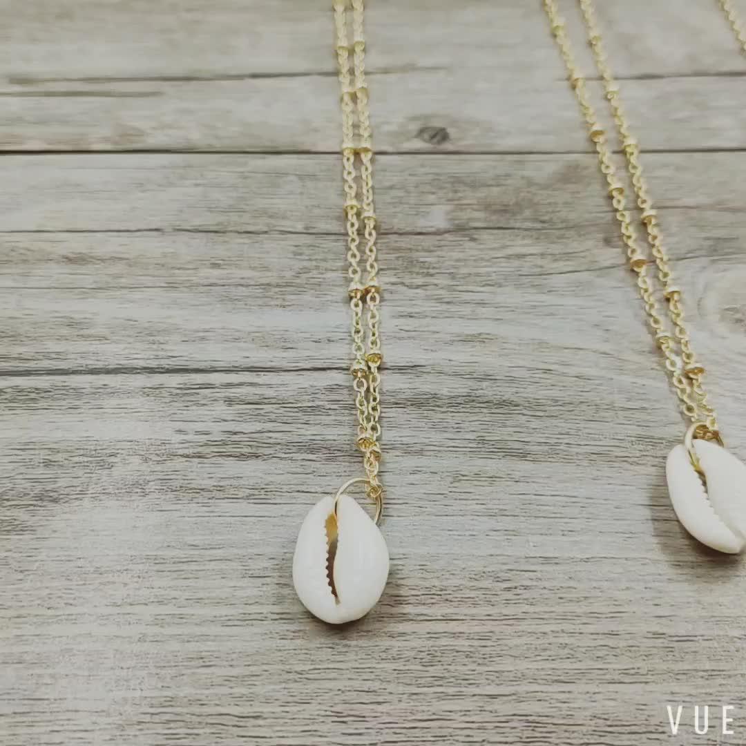Seashell Muschel Porceleinslak Dainty Delicate Ketting