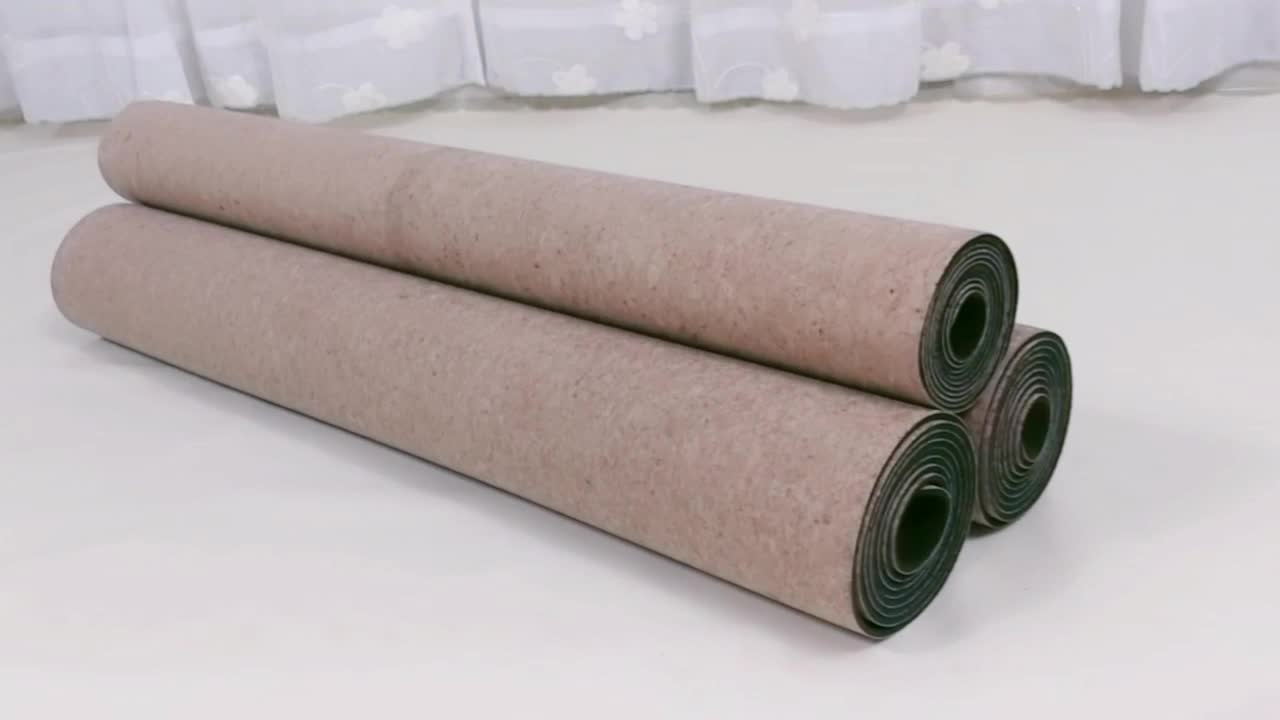 Wholesale High Density Good Resilience Eco-Friendly Cork Alignment Yoga Mat Natural Rubber