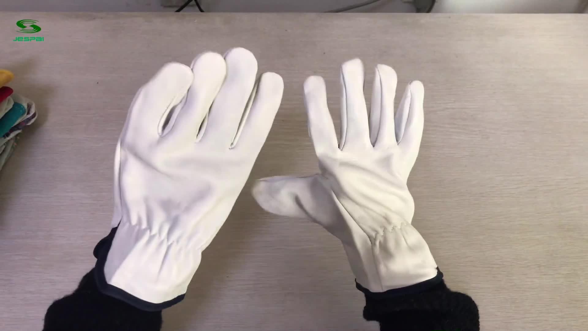 Jespai 2020 工場 10 インチ安全豚皮羊牛の皮の革手袋