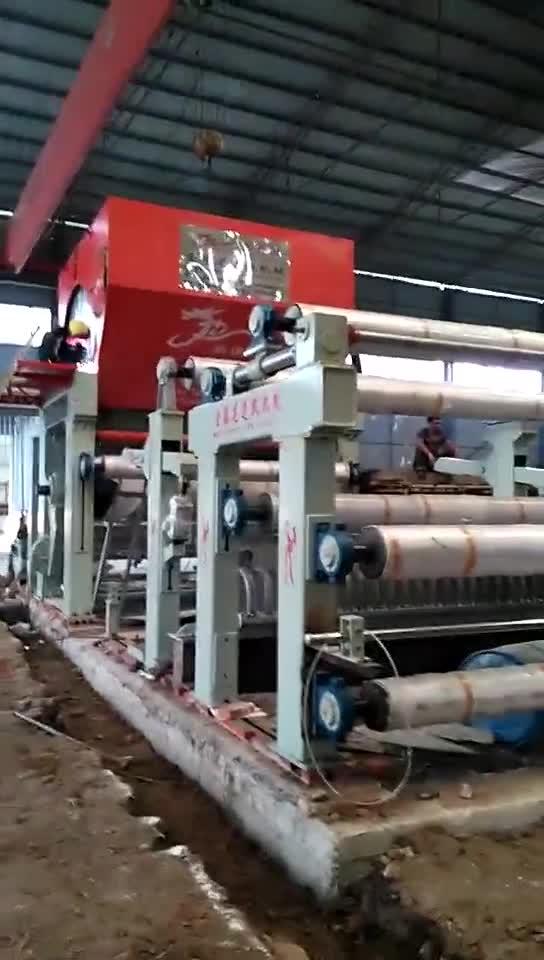 5 t/d紙パルプと古紙リサイクルジャンボロールトイレットティッシュペーパーロール製造機