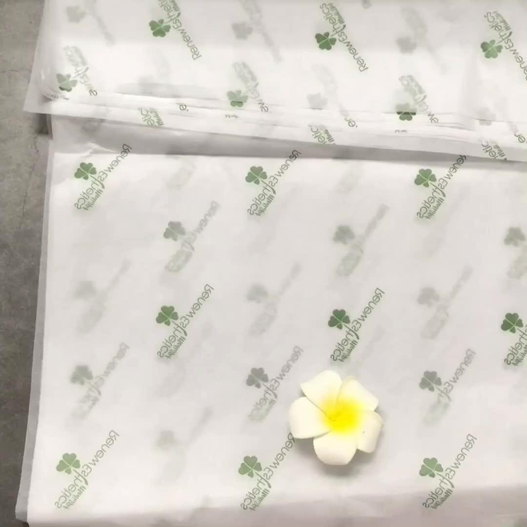 شعار مخصص بسعر الجملة المطبوعة الملونة ماجيك لون الحرير التفاف الشاش شبكة الزهور التعبئة المناديل الورقية للهدايا