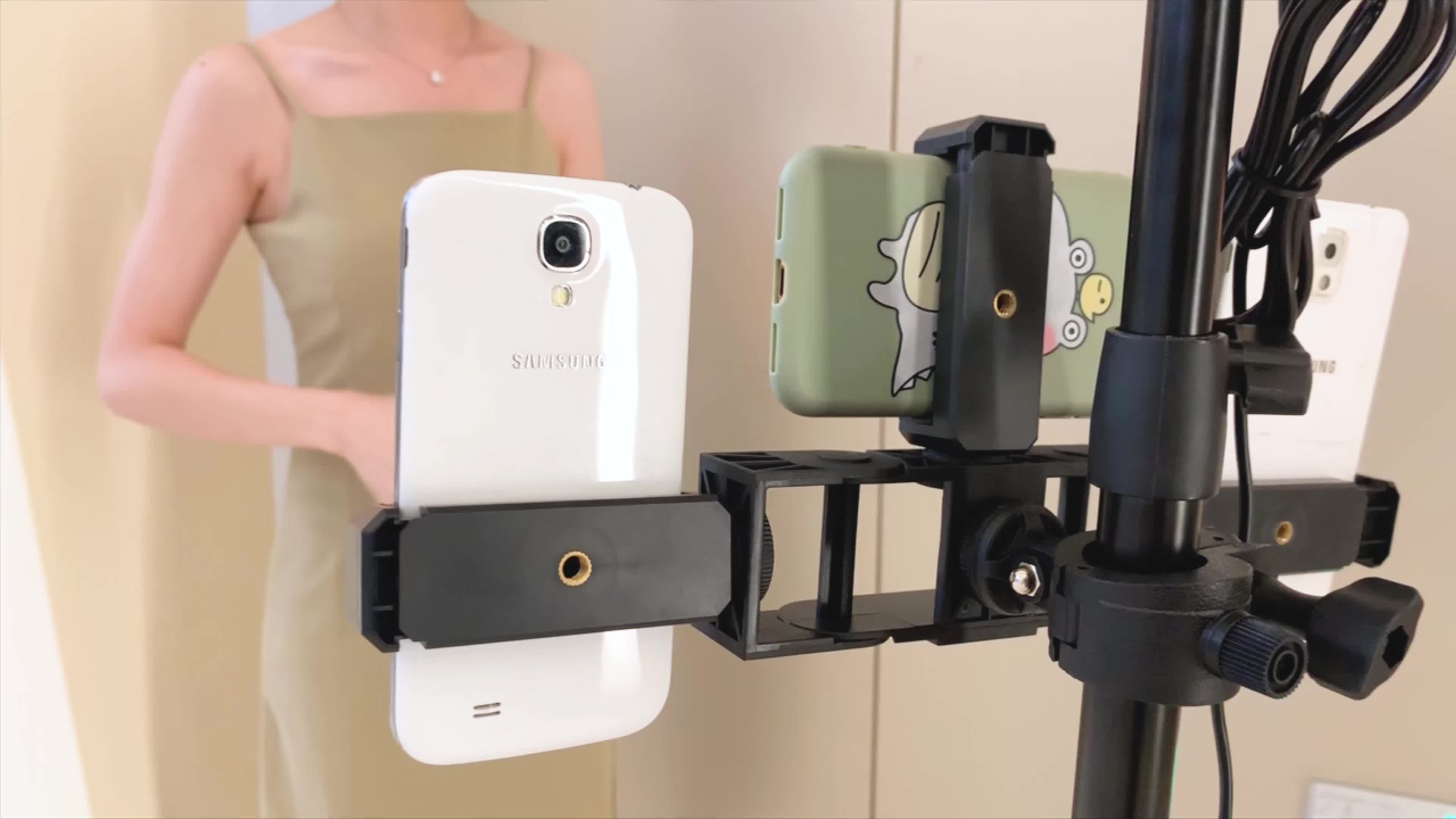 RK-L17 Fast Selling on amazon Multi functional Tripod Cell Phone Holder Mount Adapter Bracket For Live Streaming