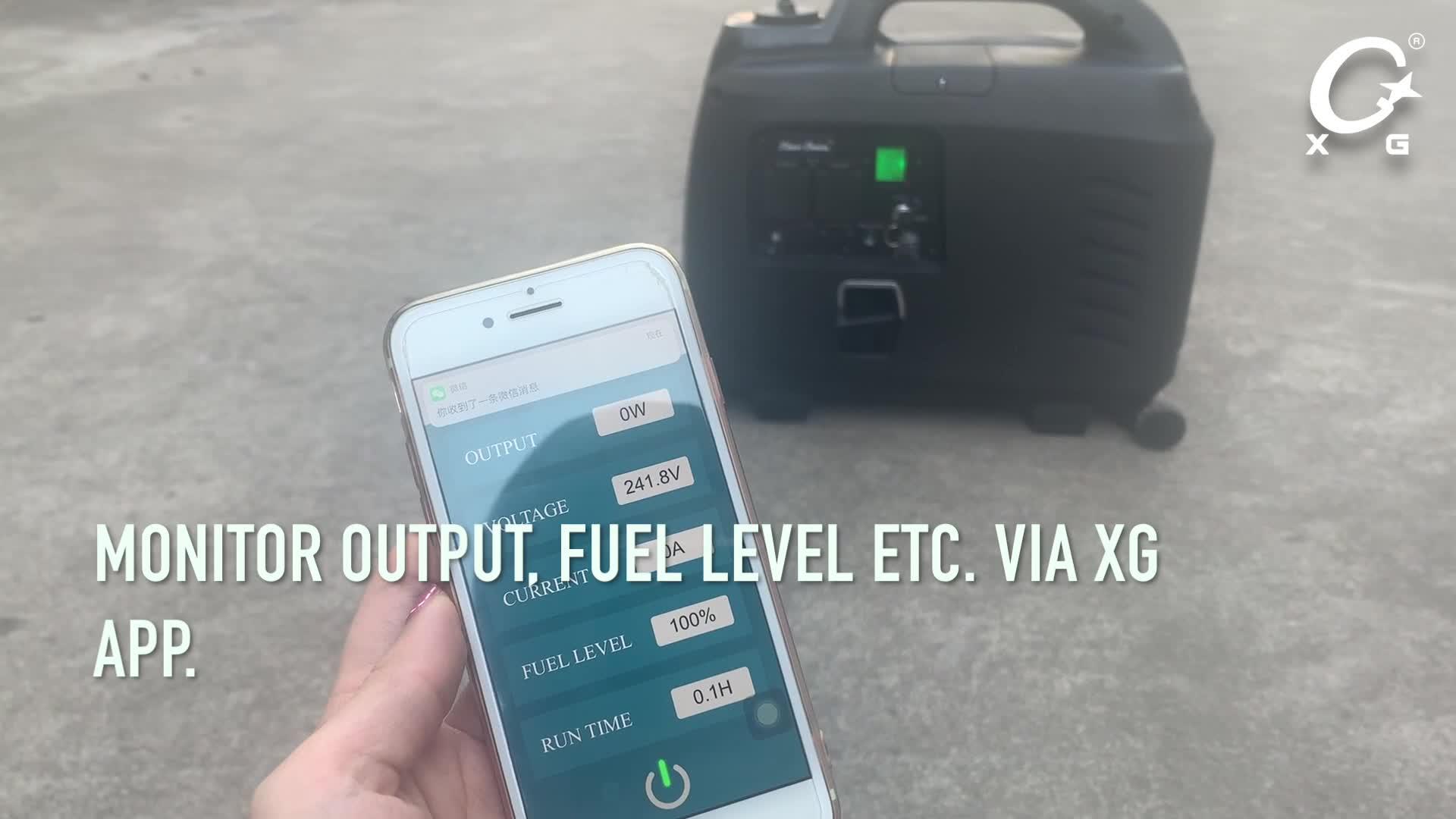 Smart App for Silent Gasoline Generator Inverter Generator