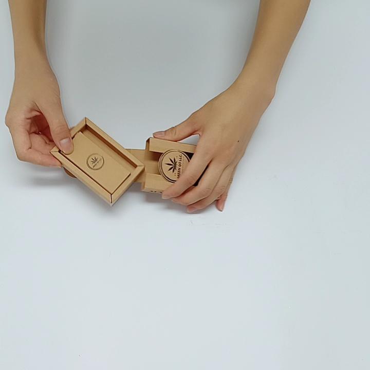 SENCAI de logotipo personalizado reciclado coincide con cajón marrón de la caja de papel kraft