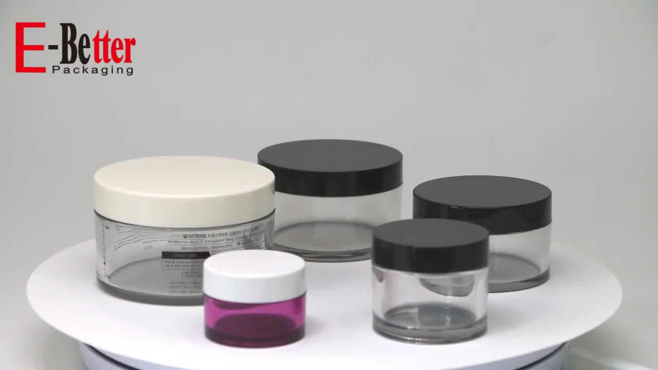 100ml thick wall pet clear jar for cosmetic cream packaging