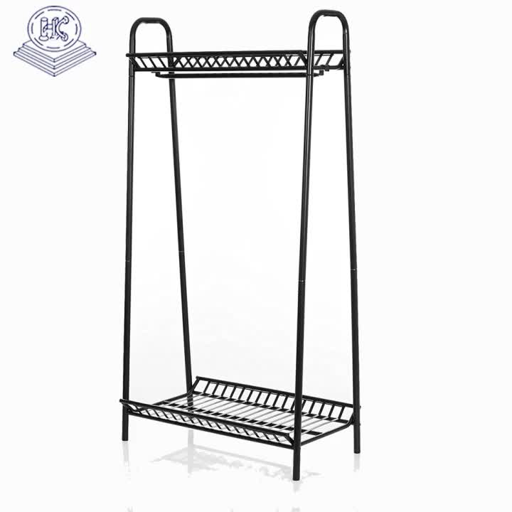 durable single side metal fabric hanging display stand with showroom